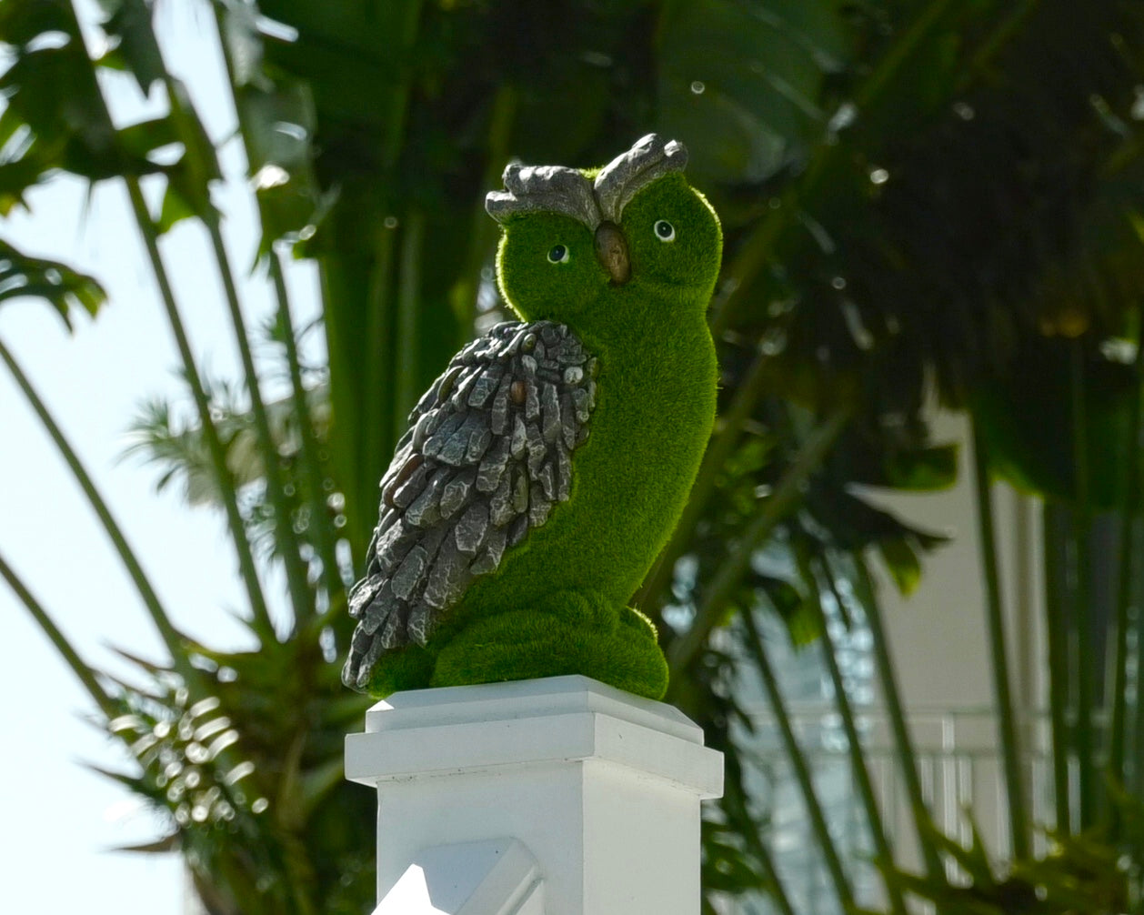 Barbara King Faux Moss and Stone Indoor/Outdoor Animal - Owl