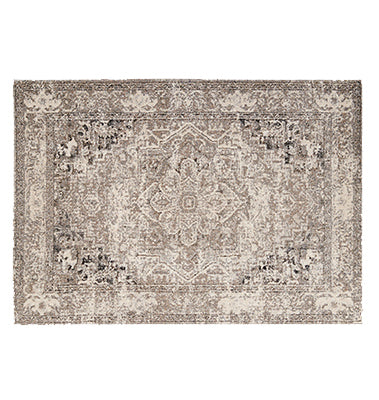 Vintage Inspired Indoor/ Outdoor Rug - Latte