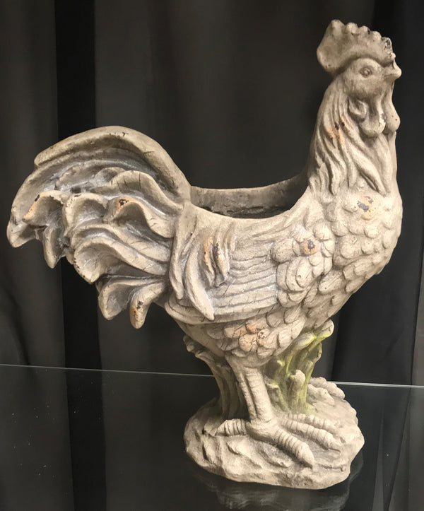 Barbara King Oversized Ornate Antique Rooster Planter