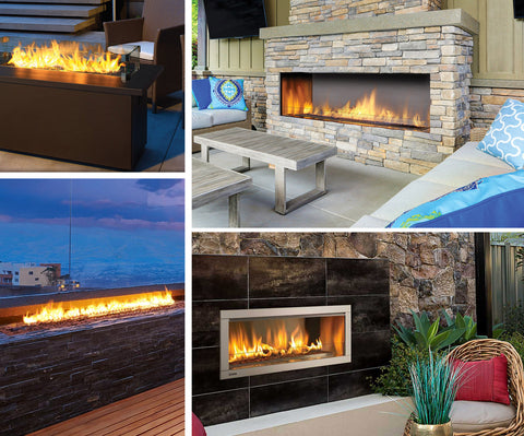 Regency outdoor fireplaces at Sunpoke in Fredericton