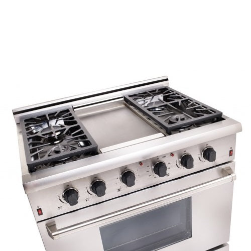"Elite 36"" On-Grid Gas Range (Electronic Ignition)"