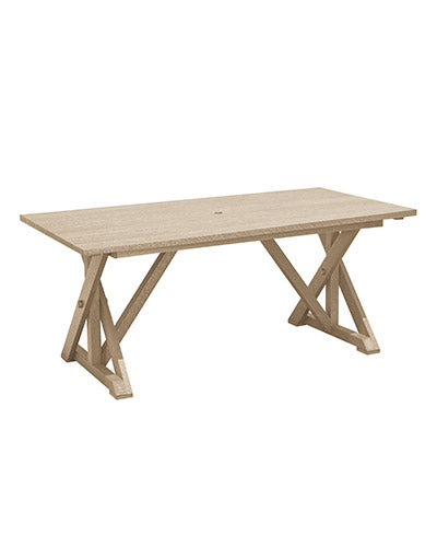 Wide Dining Table with Umbrella Hole