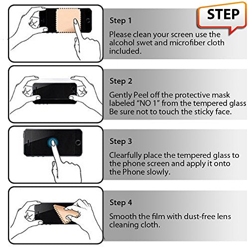 Zeking [2-Pack] Coolpad Legacy Tempered Glass Protector