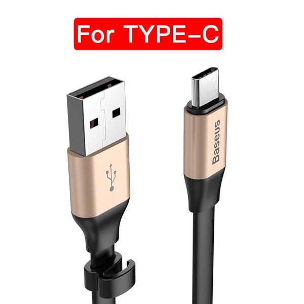 Baseus Portable C-Type Cable for Cell Phone Charger Cable Fast Charge USB C-Type Cable