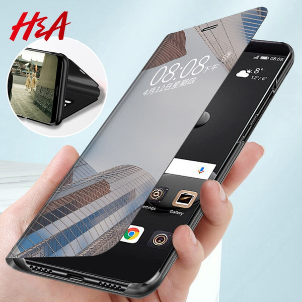 Luxury Smart Mirror Flip Phone Case For Samsung Galaxy S10E S10 S9 S8 Plus Cover  Cover