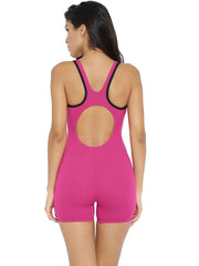 Speedo Girls Monogram Legsuit