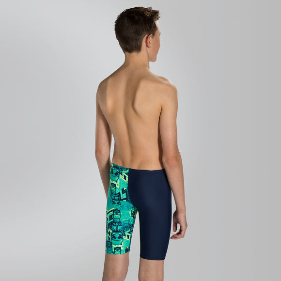Speedo Boys Tri Bold Allover V Cut Panel Jammer