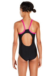 Speedo Girls Gala Logo Thinstrap Muscle Back