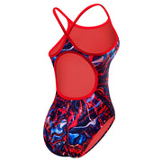 TYR Women's Penello Diamondfit Swimsuit Youthfit- Red/White