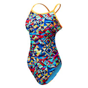 TYR Women's Mosaic Diamondfit Swimsuit Durafast One