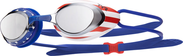 TYR BLACKHAWK RACING MIRRORED USA GOGGLES