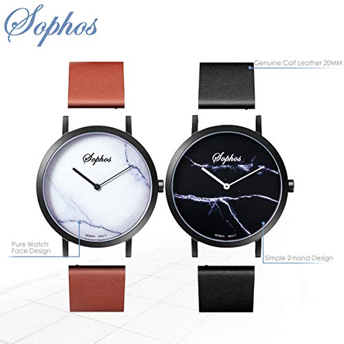 Sophos, Analogue Genuine Leather Watch
