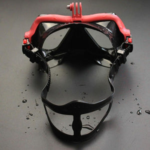 Snorkel Mask with GoPro Attachment or other Action Camera