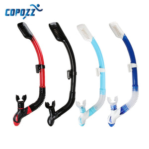 Copozz Brand Professional Dry Snorkel Tube Men Women Diving Swimming Water Sports Equipments