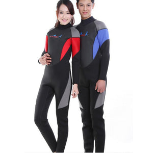 3MM Men/Women Spearfishing Wetsuit Conjoined Uv Surf Bathing Suit Sea Diving Floating Snorkeling Clothes Swimsuit  Winter Swim