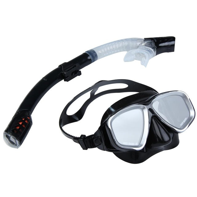 Anti Fog Snorkel Mask and Semi Dry Snorkel