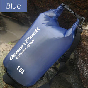 10L Waterproof Shoulder Bag for Beach, Camping, Hiking, Outdoors