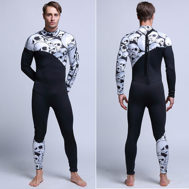 3mm Diving and Snorkeling Long Sleeve and Long Leg Wetsuit Male