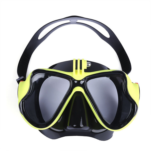 Underwater Scuba Diving Mask Snorkel Goggles Wide View Swimming Mask for Underwater Camera Anti-fog Diving Masks