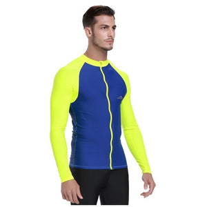Men Long sleeved swimsuit tops windsurfing uv protection swimsuit surf drifting snorkeling wetsuit