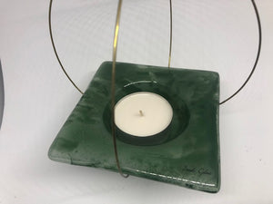 Flying candle holder, Forest green