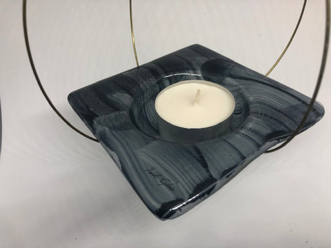 Flying candle holder, Dark blue