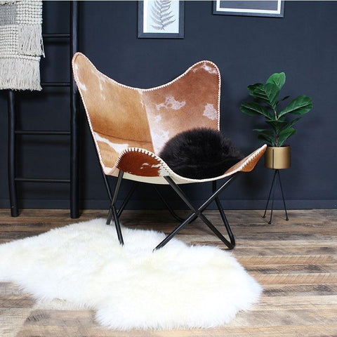 Butterfly Chair camel leer