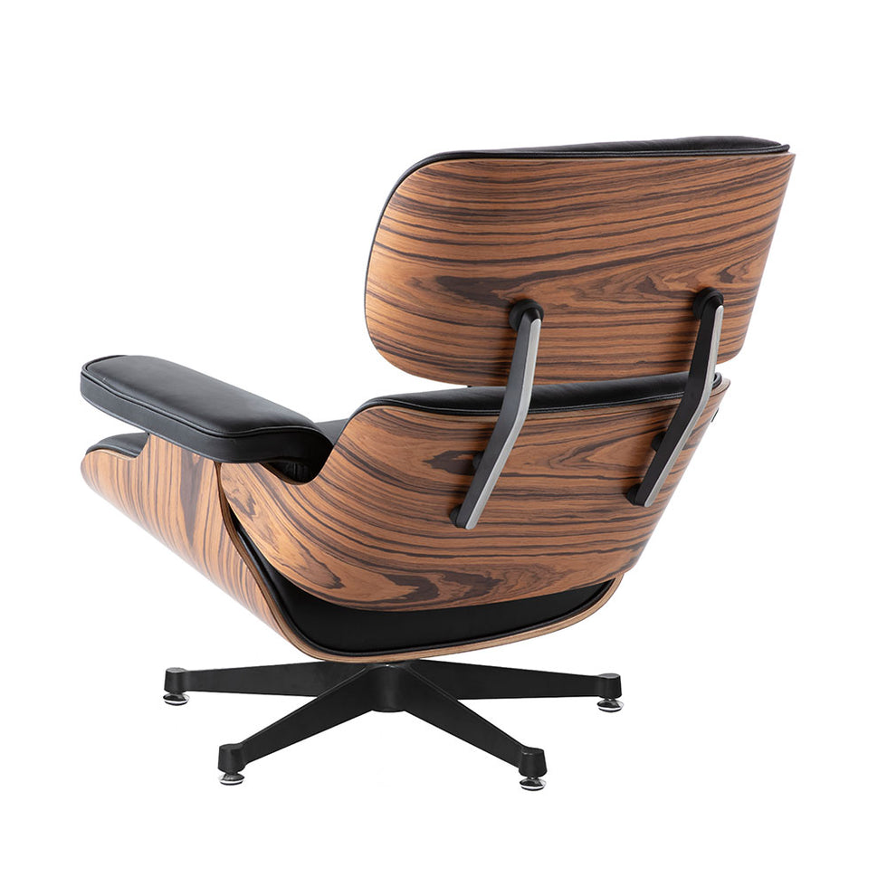 Eames Lounge Chair zwart leer