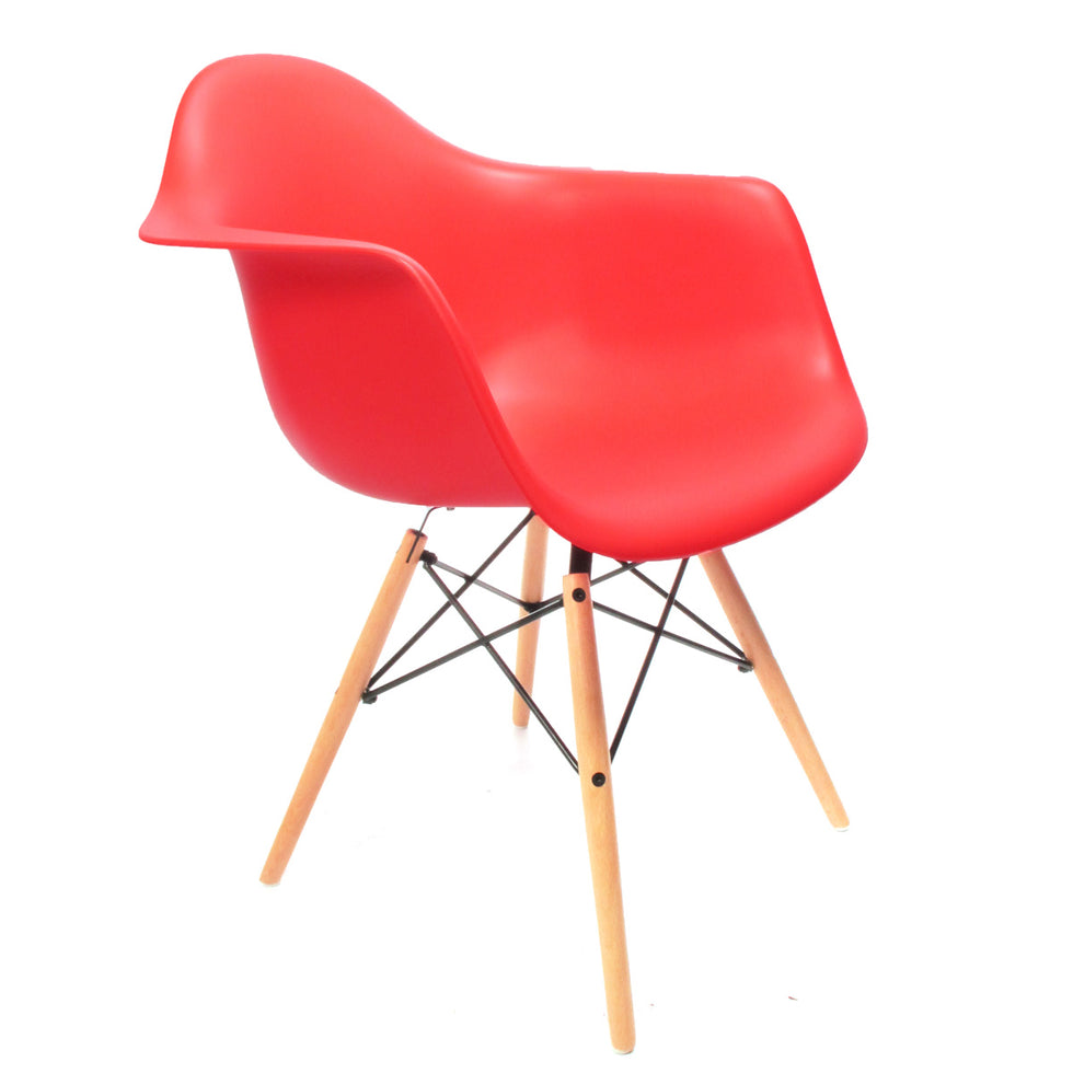 Eames DAW chair rood - Charles & Ray Eames chairs