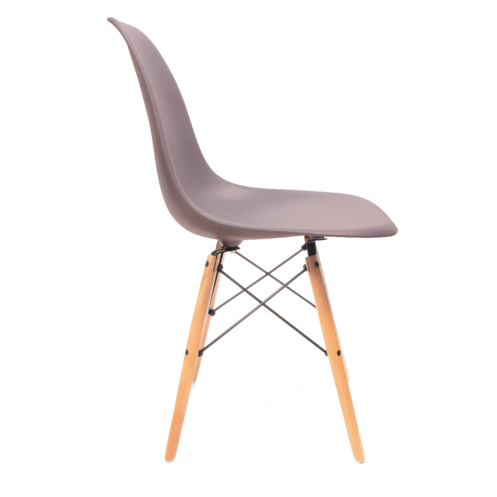 Eames DSW chair mauve grijs - Charles & Ray Eames