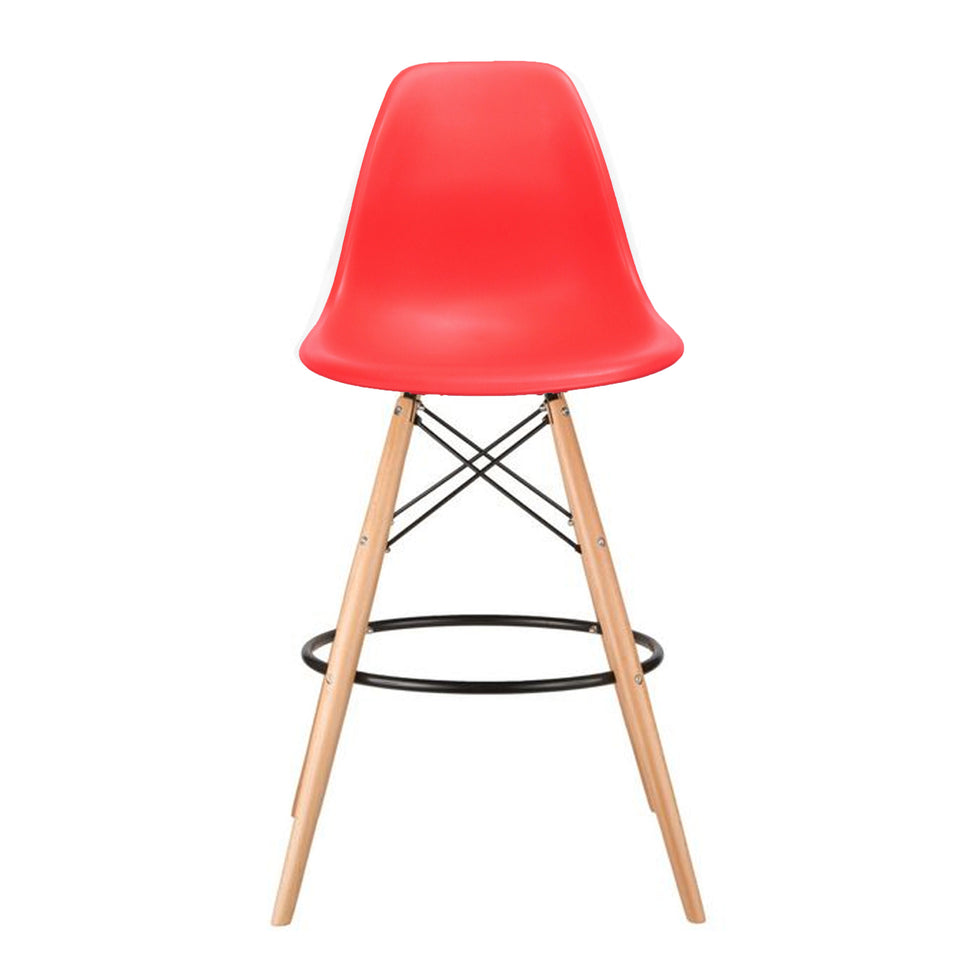 Eames DSW barkruk rood - Ray & Charles Eames chairs