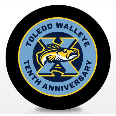 Walleye 10th Anniversary Puck