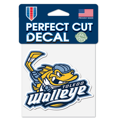 Walleye Primary Logo 4x4 Perfect Cut Decal
