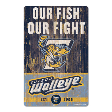 Our Fish Our Fight Wood Sign