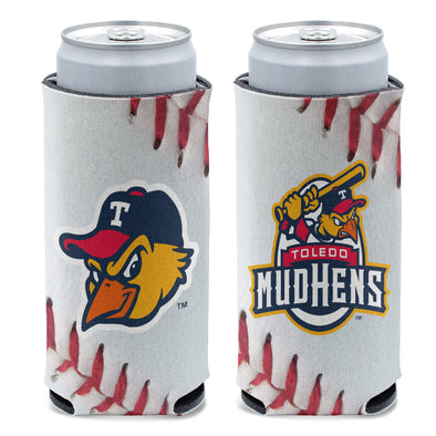 Toledo Mud Hens Laces Slim Can Coozie