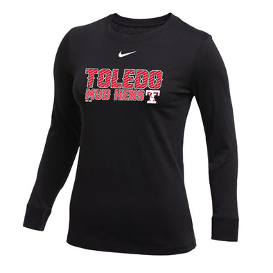 Toledo Mud Hens Black Nike Women's Cotton Long Sleeve T-shirt