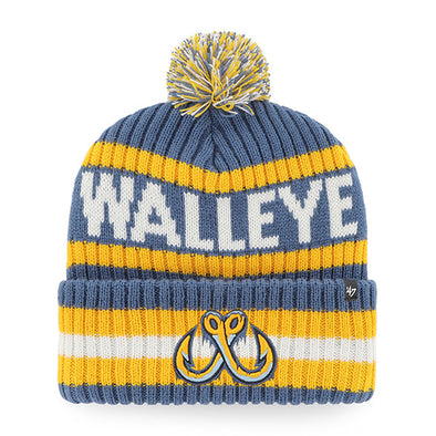 Toledo Walleye Timber Blue Bering Cuff Knit Cap