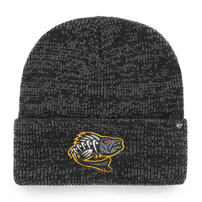 Toledo Walleye Zombie Black Brain Freeze Cuff Knit Cap