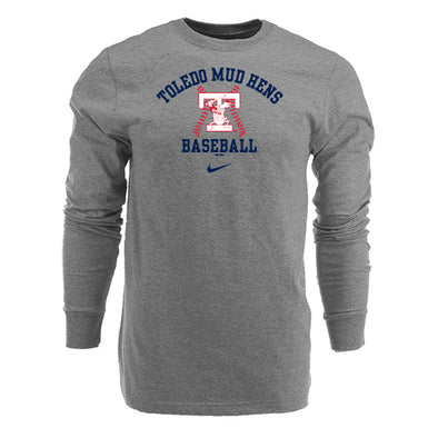 Toledo Mud Hens Heather Nike Cotton Long Sleeve T-shirt