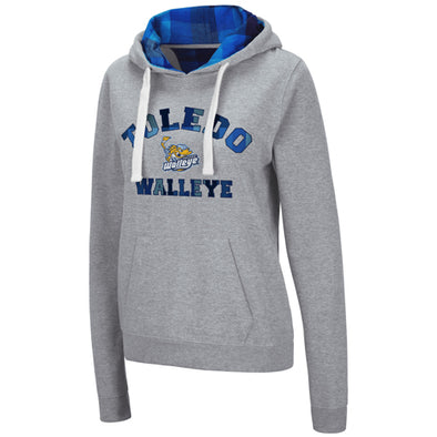 Toledo Walleye Ladies Plaid Hooded Sweatshirt