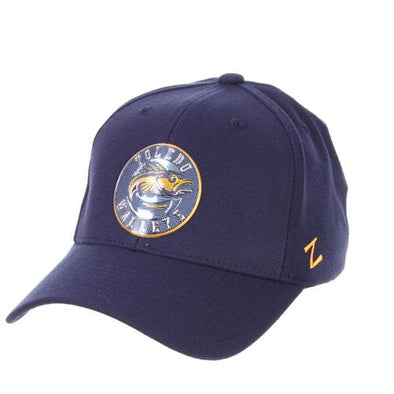 Walleye Navy Chrome Z-Fit Cap
