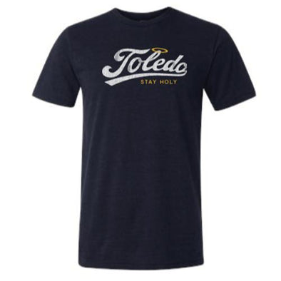Stay Holy Navy Triblend T