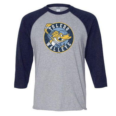 Current Crest Walleye Vintage Raglan
