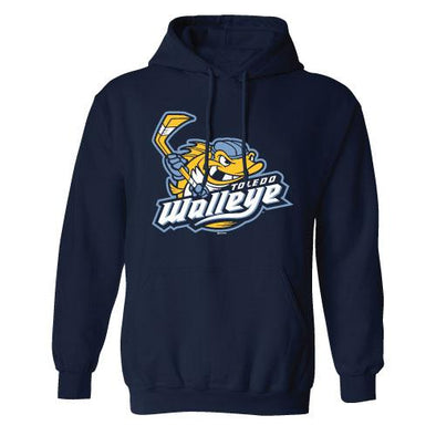 Walleye Navy Helmet Logo Hood
