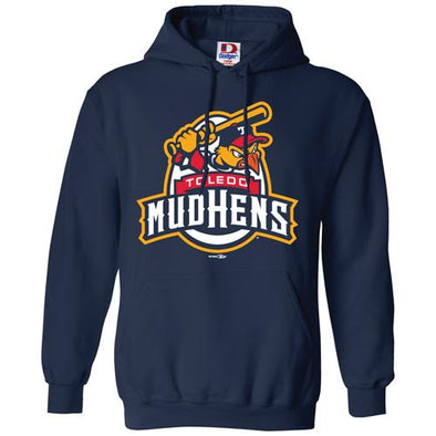Toledo Mud Hens Navy Official Logo Hooded Sweatshirt