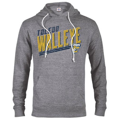 Ellis Walleye Snow Heather Hooded Sweatshirt