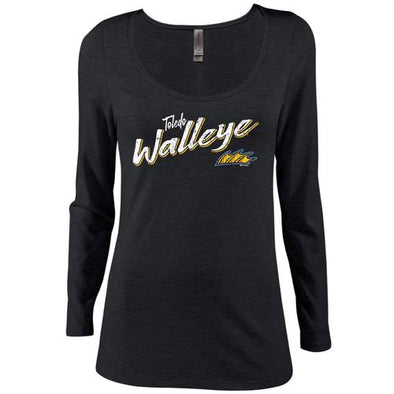 Expert Walleye Ladies Tri-Blend Long Sleeve T