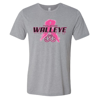 Toledo Walleye Nasier Pink Out the Rink Tri-Blend T-shirt