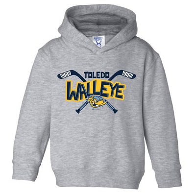 Stick Walleye Toddler Hooded Sweatshirt