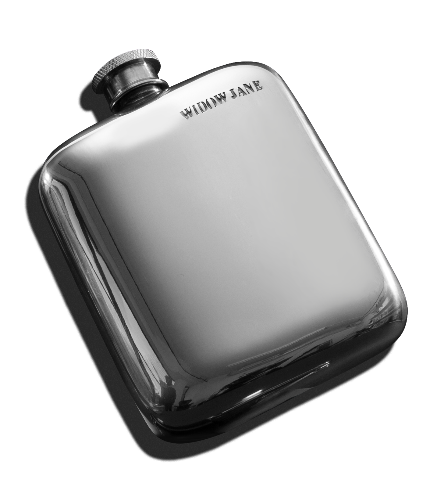 Wide Pewter Flask product shot